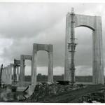 Photo of the bridge under construction