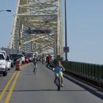 26th International Bridge Walk & First Int'l Bicycle Parade - June 30, 2012.  Photo by MDOT.
