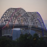 International Bridge 50th Anniversary Lighting (U.S. Arches)