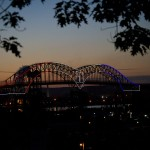 International Bridge 50th Anniversary Lighting (U.S. Arches from Sault Michigan)