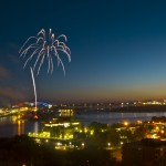 International Bridge 50th anniversary celebration and lighting ceremony.