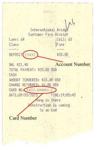 Prox Account Commuter Receipt